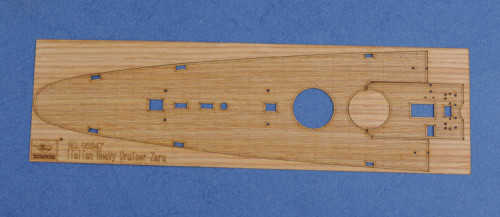 Wooden Deck for Trumpeter 05347 1/350 Scale Italian Heavy Cruiser Zara Model CY350030