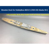 Wooden Deck for HobbyBoss 86513 1/350 Scale USS Alaska CB-1 Model CY350028