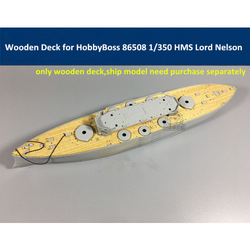 Wooden Deck for HobbyBoss 86508 1/350 Scale HMS Lord Nelson Model CY350026