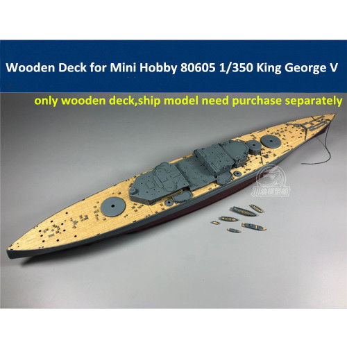 Wooden Deck for Mini Hobby 80605 1/350 Scale King George V Model CY350042