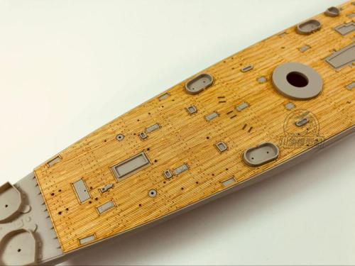 Wooden Deck for HobbyBoss 86515 1/350 Scale USS Hawaii CB-3 Model CY350045