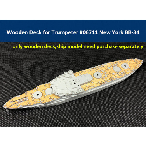 Wooden Deck for Trumpeter 06711 1/700 Scale USS New York BB-34 Model CY700028