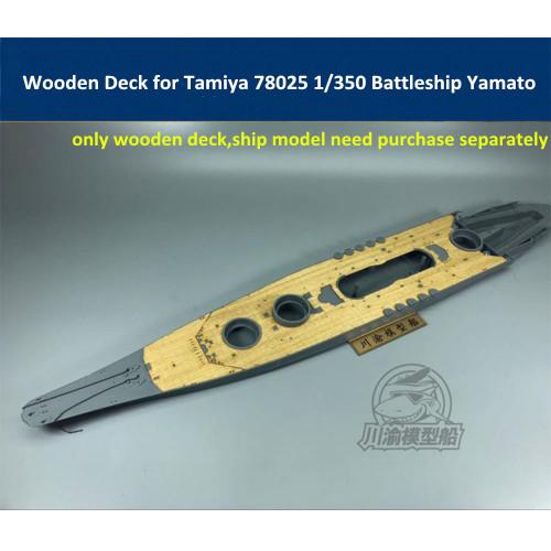 Wooden Deck for Tamiya 78025 1/350 Scale Japanese Battleship Yamato Model CY350048