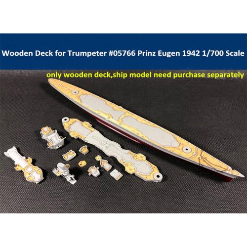 Wooden Deck for Trumpeter 05766 1/700 Scale German Cruiser Prinz Eugen 1942 Model CY700022