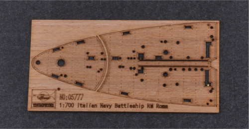 Wooden Deck for Trumpeter 05777 1/700 Scale Italian Battleship RN Roma 1943 Model CY700009