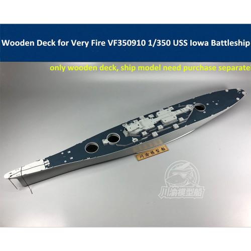 Wooden Deck Blue for Very Fire VF350910 1/350 Scale USS Iowa Battleship Model CY350053