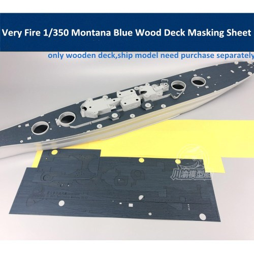 1/350 Scale Blue Wooden Deck Masking Sheet for Very Fire Montana VF350913 Model Ship CY350050B