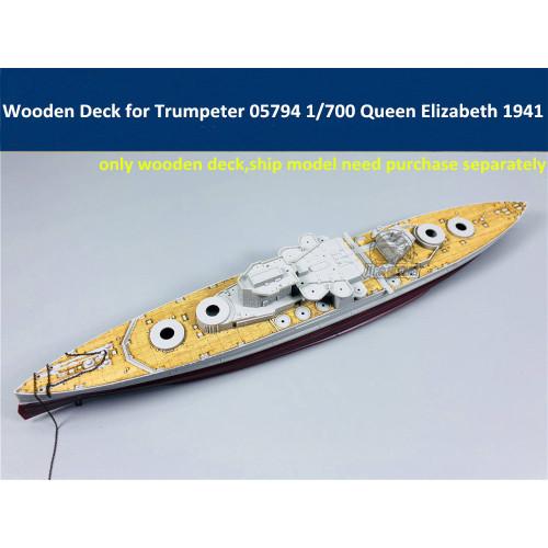 Wooden Deck for Trumpeter 05794 1/700 Scale HMS Batleship Queen Elizabeth 1941 Model CY700034