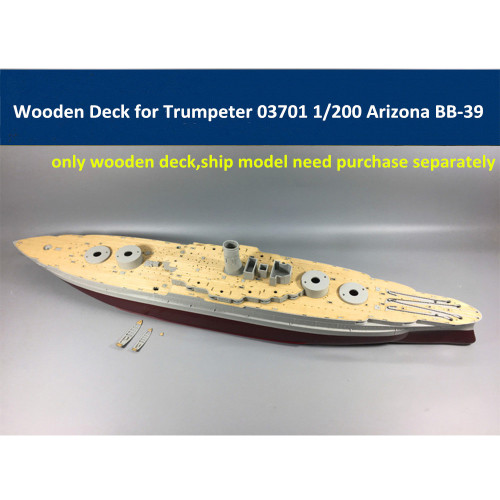 Wooden Deck for Trumpeter 03701 1/200 Scale USS Arizona BB-39 Model CY20002