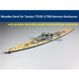 Wooden Deck for Tamiya 77520 1/700 Scale German Battleship Genisenau Model CY700027