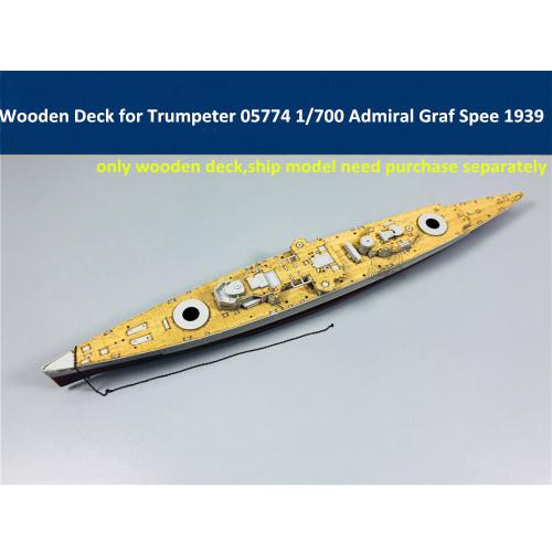 Wooden Deck for Trumpeter 05774 1/700 Scale German Battleship Admiral Graf Spee 1939 Model CY700033