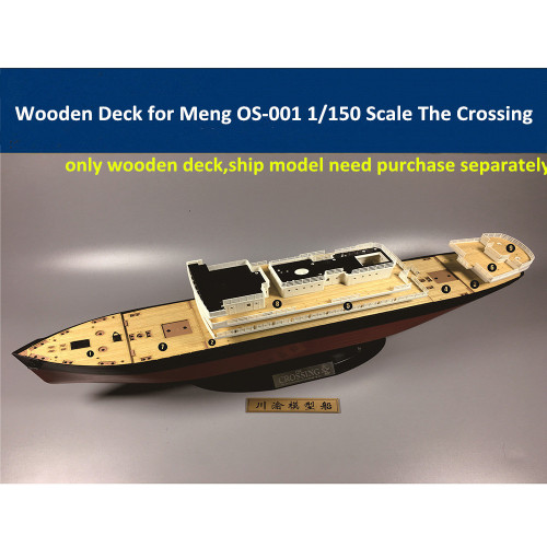 Wooden Deck for Meng OS-001 1/150 Scale The Crossing Model CY15002