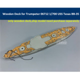 Wooden Deck for Trumpeter 06712 1/700 Scale USS Texas BB-35 Ship Model CY700039