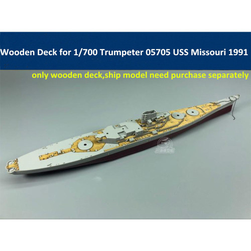 Wooden Deck for Trumpeter 05705 1/700 Scale USS BB-63 Missouri 1991 Model CY700035