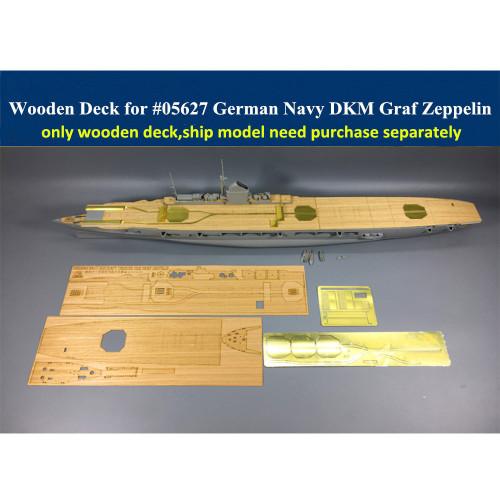 Wooden Deck PE Set for Trumpeter 05627 1/350 Scale German Aircraft Carrier DKM Graf Zeppelin Model CY350019