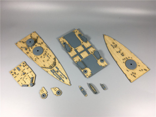 Wooden Deck for Mini Hobby 80606 1/350 Scale British Battleship Prince of Wales Model CY350004