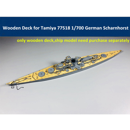 Wooden Deck for Tamiya 77518 1/700 Scale German Battlecruiser Scharnhorst Model CY700025