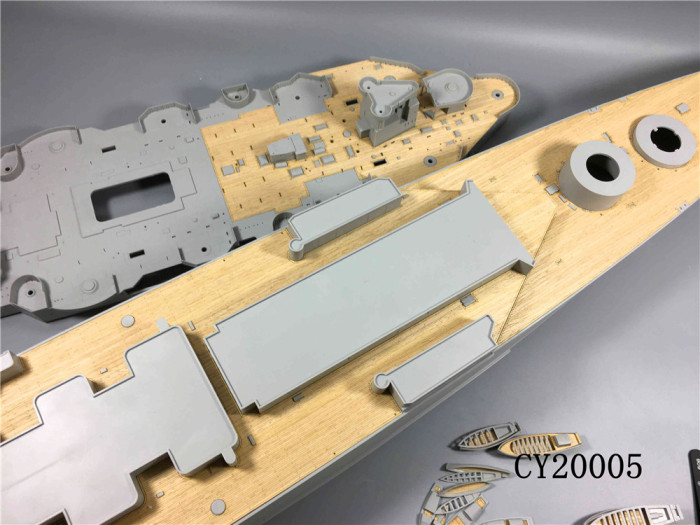 Wooden Deck for Trumpeter 03710 1/200 Scale HMS Hood Model CY20005