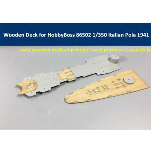 Wooden Deck for HobbyBoss 86502 1/350 Scale Italian Heavy Cruiser Pola 1941 Model CY350005