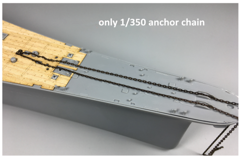 1/350 Scale Model Ship Anchor Chain CY350012 (not include Anchor)
