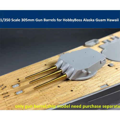 1/350 Scale MK8 305mm Gun Barrels for HobbyBoss 86513 86514 86515 Alaska Guam Hawaii Model CYG020