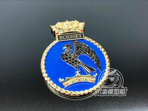 Metal Badge Heraldry HMS Battleship Rodney Model Ship Display CYH010