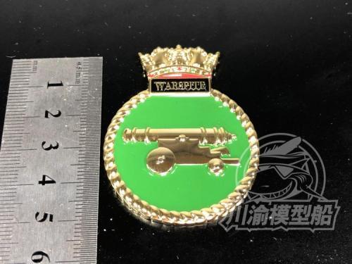 Metal Badge Heraldry HMS Battleship Warspite Model Ship Display CYH005