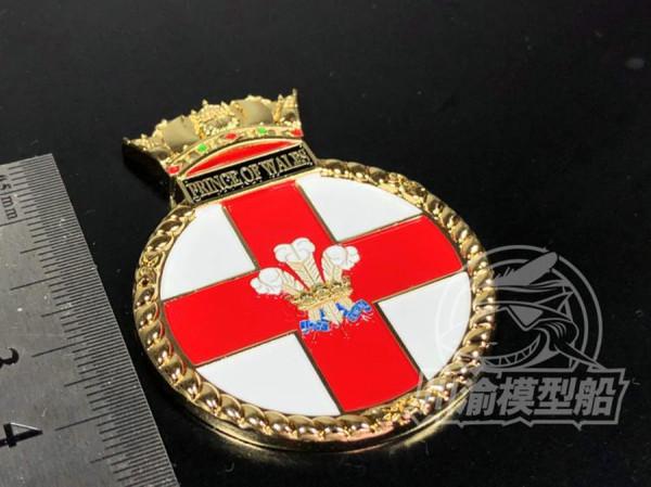 Metal Badge Heraldry HMS Battleship Prince Of Wales Model Ship Display CYH006
