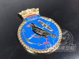 Metal Badge Heraldry HMS Battleship Hood Model Ship Display CYH003