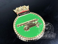 Metal Badge Heraldry HMS Battleship Warspite Model Ship Display CYH005
