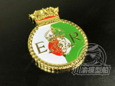 Metal Badge Heraldry HMS Battleship Queen Elizabeth Model Ship Display CYH009