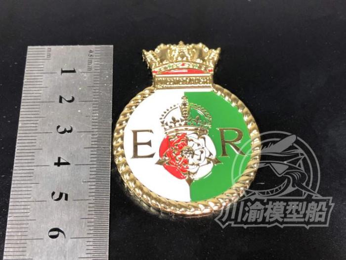 Metal Badge Heraldry HMS Battleship Queen Elizabeth Model Ship Display CYH009