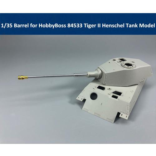 1/35 Scale Metal Barrel for HobbyBoss 84531 84533 84532 Tiger II Henschel Tank Model CYT007