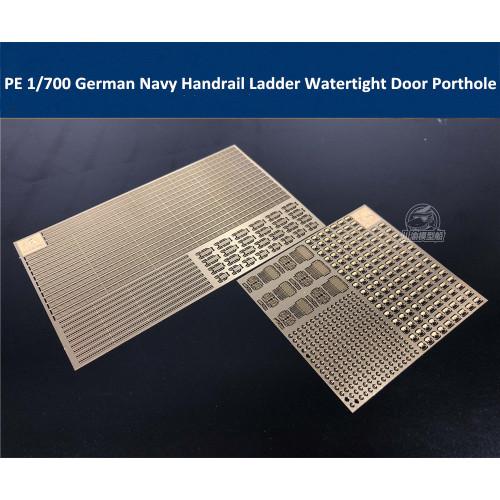 Photo-Etched PE Handrail Ladder Watertight Door Radar for 1/700 WWII German Navy Ship Model CYE007