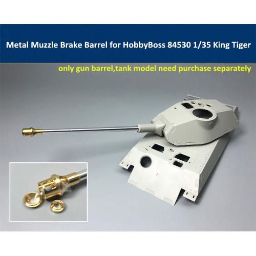 Metal Muzzle Brake Barrel for HobbyBoss 84530 1/35 King Tiger Porsche Turret Model CYT008