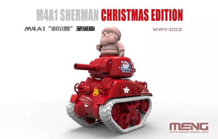 Meng WWV-002 M4A1 Sherman Q Editon Christmas Xmas Special Editon Assembly Model