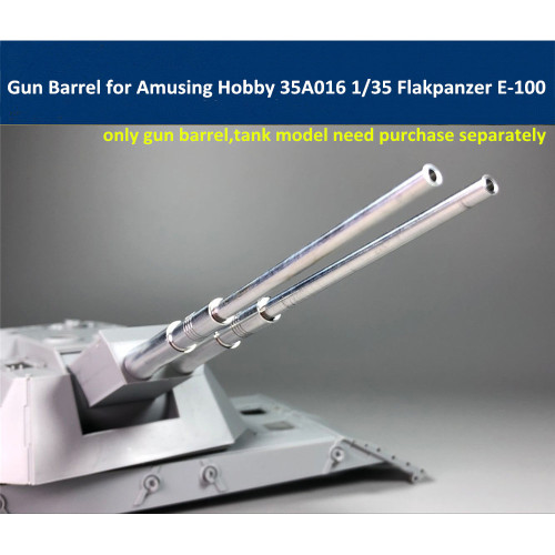 Gun Barrel for Amusing Hobby 35A016 1/35 Scale 88mm Flakzwilling Flakpanzer E-100 Tank Model CYT03