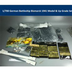 Fly Hawk 1/700 Scale German Battleship Bismarck 1941 Assembly Model Kit & Up Grade Set FH1132S