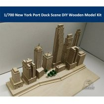 1/700 Scale New York Port Dock Scene DIY Wooden Assembly Model Kit CY701
