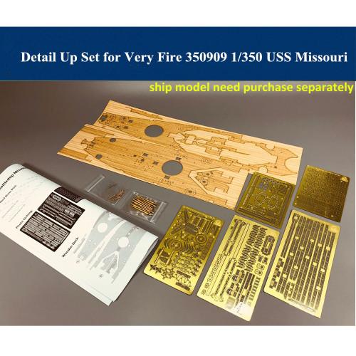 Detail Up Set for Very Fire VF350909 1/350 USS Battleship Missouri Model CYE011