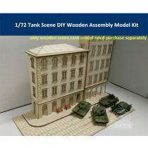 1/72 Scale Tank Scene DIY Wooden Assembly Model Kit CY702