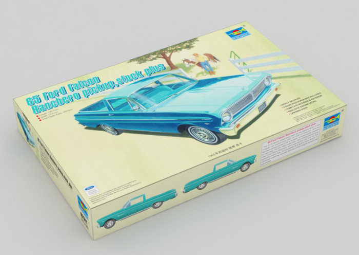Trumpeter 02511 1/25 Scale 65 Ford Falcon Ranchero Pickup Stock Plus Plastic Assembly Model Kits