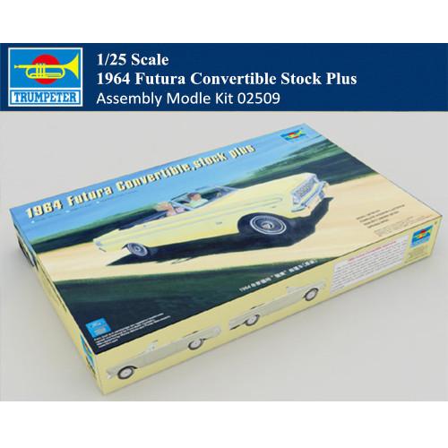 Trumpeter 02509 1/25 Scale 1964 Futura Convertible Stock Plus Car Plastic Assembly Model Kit