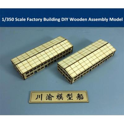 1/350 Scale Factory Building DIY Shipyard Dock Scene Wooden Assembly Model CY811