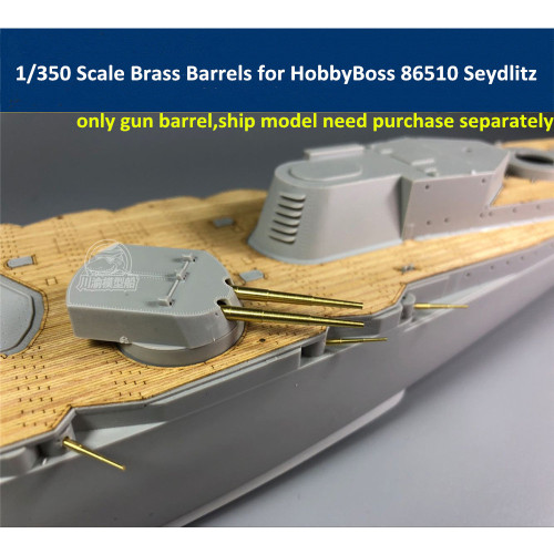 1/350 Scale Brass Barrels(28pcs total) for HobbyBoss 86510 Seydlitz Model CYG018