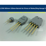 1/350 Scale 365mm 133mm Brass Barrels for Tamiya 78010 78011 Prince of Wales/King George V Model CYG021
