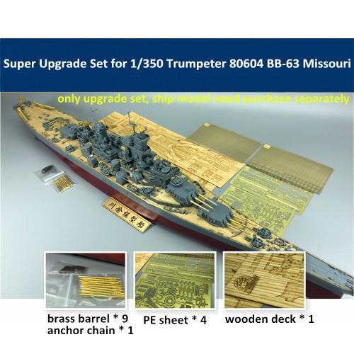 Super Upgrade Set for 1/350 Scale Trumpeter 80604 BB-63 Missouri Model CYE014A