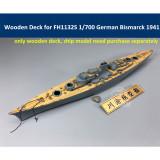 Wooden Deck for Flyhawk FH1132S 1/700 Scale German Battleship Bismarck 1941 Model CY700044