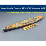 Wooden Deck for Trumpeter 05735 1/700 Scale USS Washington BB-56 Ship Model CY700043