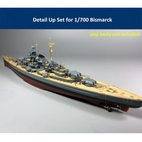 Detail Up Set for 1/700 Scale Bismarck Model Trumpeter 05711/Meng PS-003 CYE006